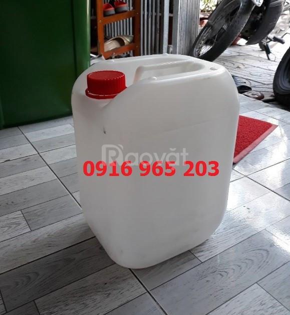 Can nhựa đựng hóa chất, can nhựa 30 lít, can vuông xanh 20 lít