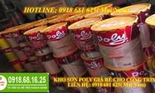 Sơn dầu Poly giá rẻ cho công trình tại quận Tân Bình