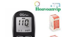 Tặng 2 hộp 25 que và 100 kim khi mua máy đo đường huyết ogcare