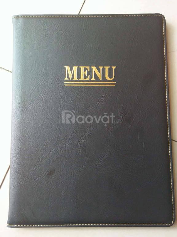 Chuyên cung cấp menu da, xưởng sản xuất menu giá rẻ