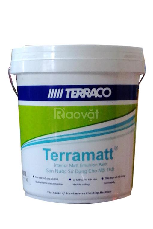 Sơn nội thất Terraco Terramatt giá rẻ độ bền màu đến 5 năm sử dụng