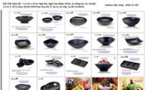 Bán tô chén bát đĩa sứ ngọc Hàn Nhật, bát đĩa BBQ lẩu nướng, chén hàn