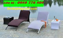 Ghế hồ bơi mây nhựa, ghế hồ bơi ngoài trời, ghế hồ bơi giả mây Đà Nẵng