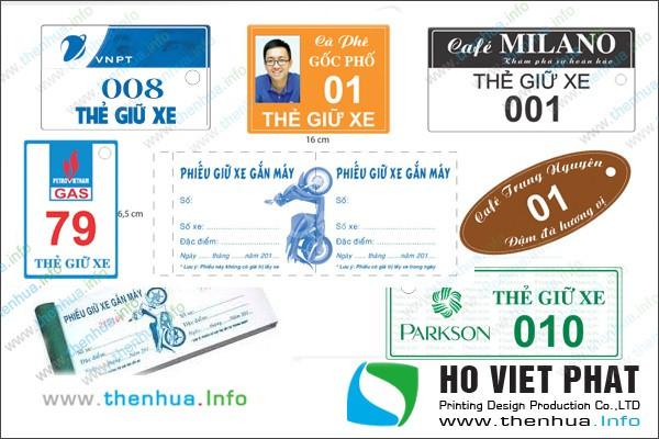 In thẻ giữ xe thông minh, vé giữ xe, phiếu giữ xe giá rẻ