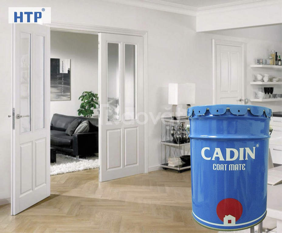 Sơn dầu hệ nước, sơn dầu không mùi Cadin cho sắt thép