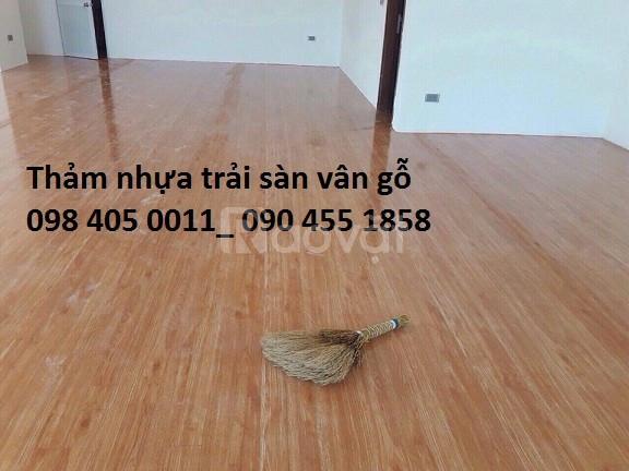 Sàn nhựa vân gỗ, vân đá, thảm trải sàn giá rẻ Hà Nội (ảnh 1)