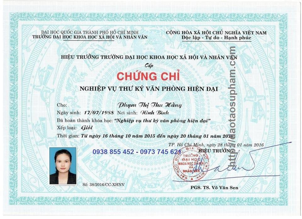 Đào tạo văn thư lưu trữ Đại học Nhân Văn TP HCM cấp chứng chỉ