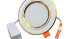Đèn led âm trần có tản nhiệt viền vàng công suất 7W (ảnh 1)