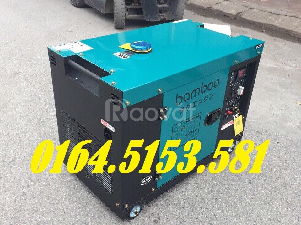Máy phát điện chạy dầu gia đình 7kw Bamboo 9800ET, chống ồn từ Nhật