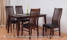 Bộ bàn ăn gỗ 4 ghế HW329 - hàng xuất Nhật - nội thất Homeworld