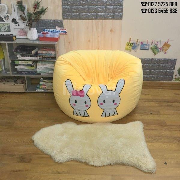 Ghế lười hạt xốp cỡ đại hình thỏ xinh cho bé