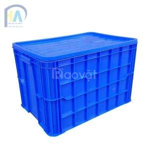 Thùng nhựa đặc 8TĐ, thùng nhựa HS026