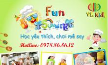 Khoá học nấu ăn hè cho trẻ em từ 6-15 tuổi tại Hà Nội