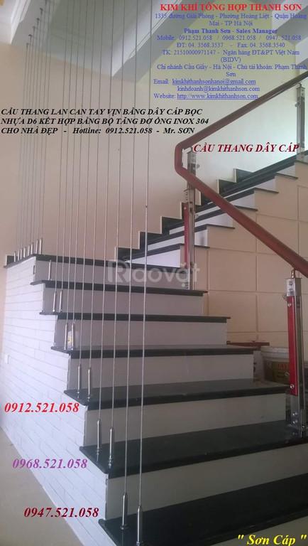 Cầu thang dây cáp, tăng đơ ống inox, dây cáp