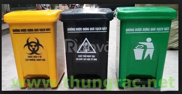 Cung cấp thùng rác y tế 15 lít - thùng rác y tế các loại Ms Thanh