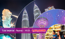 Tour 2 nước Singapore - Malaysia 4N3D