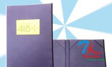 Cơ sở sản xuất cuốn thực đơn da, làm bìa menu nhà hàng, bìa folder