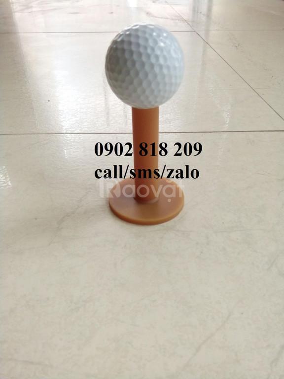 Tee Golf cao su vàng cao 7cm