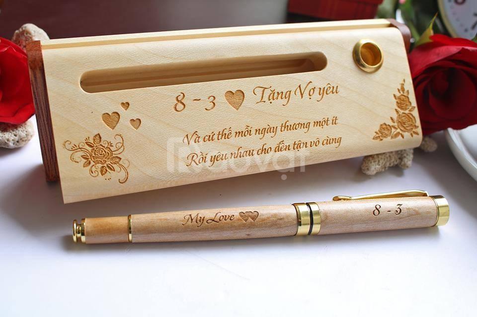Bút gỗ khắc chữ Cần Thơ - Quà tặng nhân viên, khách hàng, đối tác