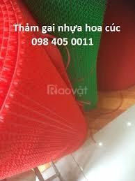 Thảm nhựa chống trơn trượt màu đỏ giá rẻ Hà Nội