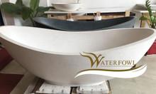 Bồn tắm đá terrazzo cao cấp WF-T 9005 màu trắng