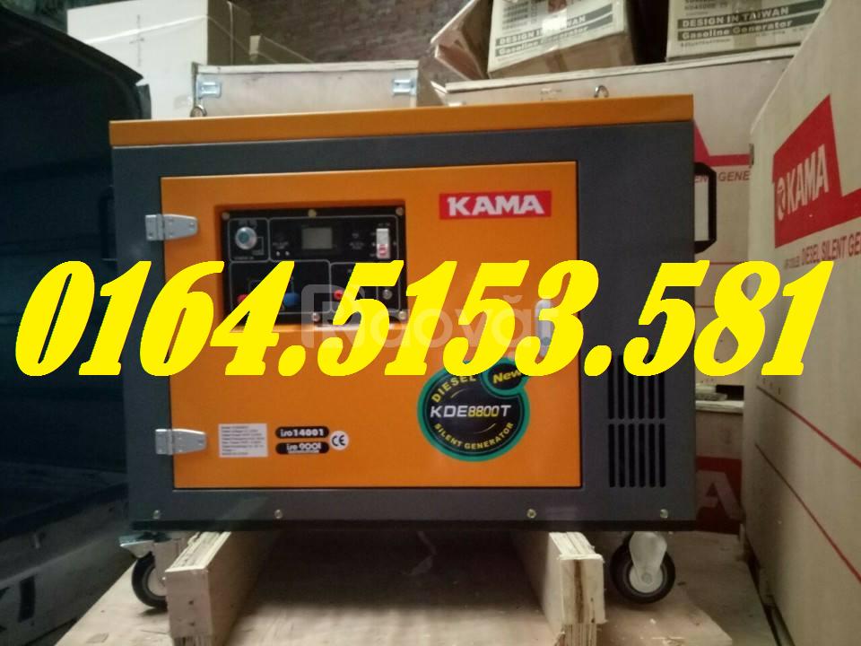 Máy phát điện chạy dầu 7kw Kama KDE8800 giá rẻ chạy đủ công suất