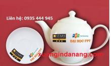 Xưởng in logo ấm trà, ấm chén in logo tại Đà Nẵng