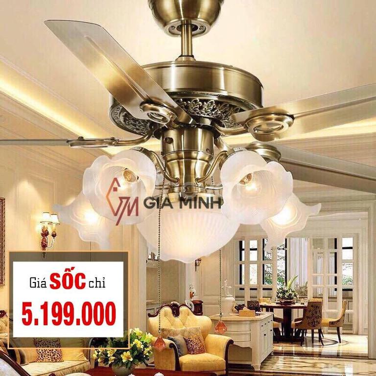 Địa chỉ bán Quạt trần đèn trang trí uy tín, giá rẻ