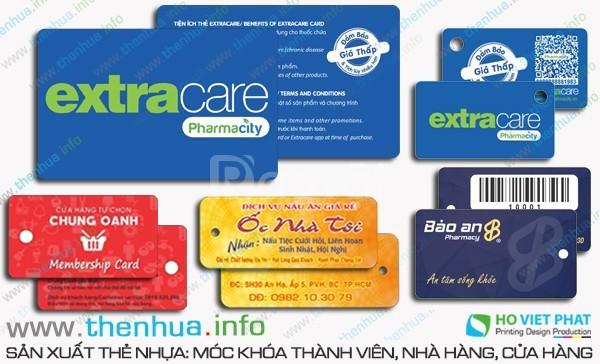 In thẻ nhựa có dập nổi tên khách hàng