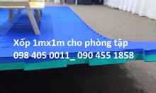 Thảm xốp 1mx1m cho phòng tập thể dục phòng gym giá rẻ