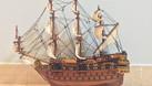 Mô hình tàu chiến cỗ San Felipe bằng gỗ tự nhiên 40cm (ảnh 1)