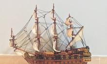Mô hình tàu chiến cỗ San Felipe bằng gỗ tự nhiên 40cm