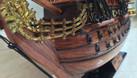 Mô hình tàu chiến cỗ San Felipe bằng gỗ tự nhiên 40cm (ảnh 4)