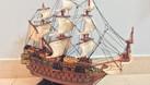 Mô hình tàu chiến cỗ San Felipe bằng gỗ tự nhiên 40cm (ảnh 8)