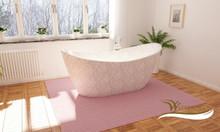 Bồn tắm đẹp, cao cấp, bằng đá terrazzo WF-T 9002 màu trắng