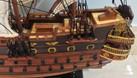 Mô hình tàu chiến cỗ San Felipe bằng gỗ tự nhiên 40cm (ảnh 6)