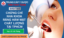 Kỹ thuật viên Răng-Hàm-Mặt học ngắn hạn tại TPHCM