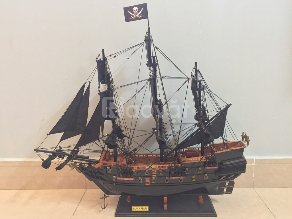 Mô hình mỹ nghệ gỗ tàu cướp biển nhỏ 55cm (ảnh 1)