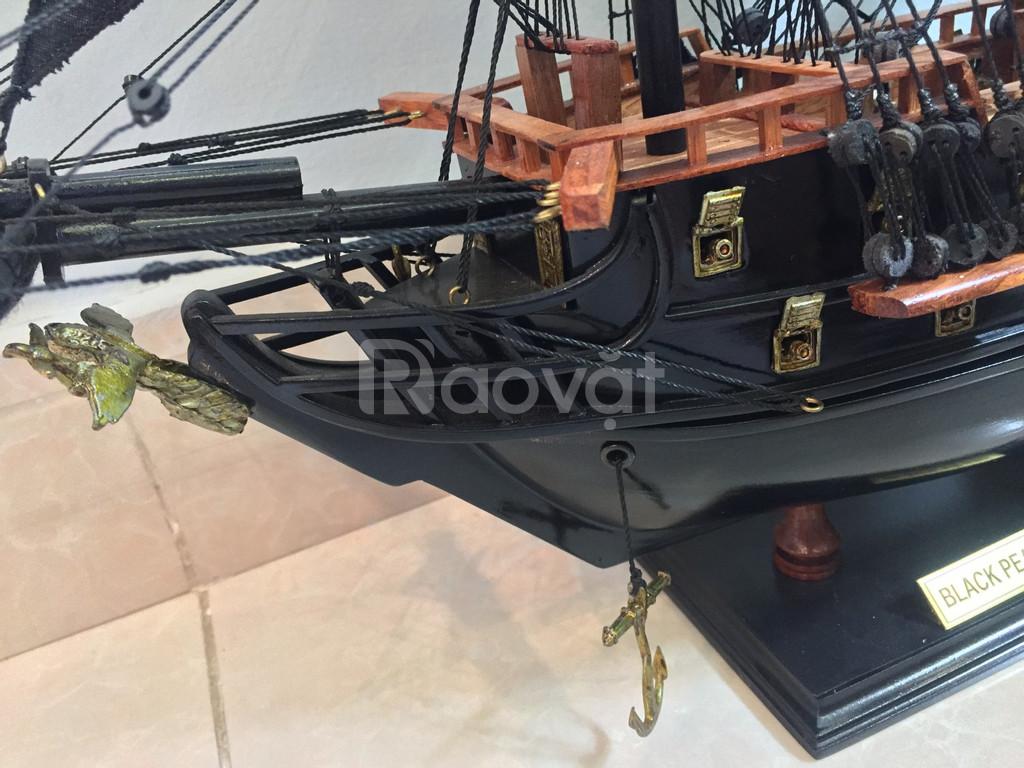 Mô hình mỹ nghệ gỗ tàu cướp biển nhỏ 55cm (ảnh 5)