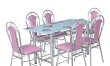 Bàn ghế inox giá rẻ, bàn ghế inox 304, ghế inox 304, ghế inox tròn giá