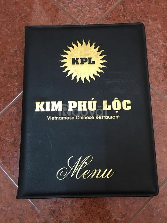 Cơ sở sản xuất bìa da, menu bìa da, bìa da kẹp hồ sơ, bìa folder