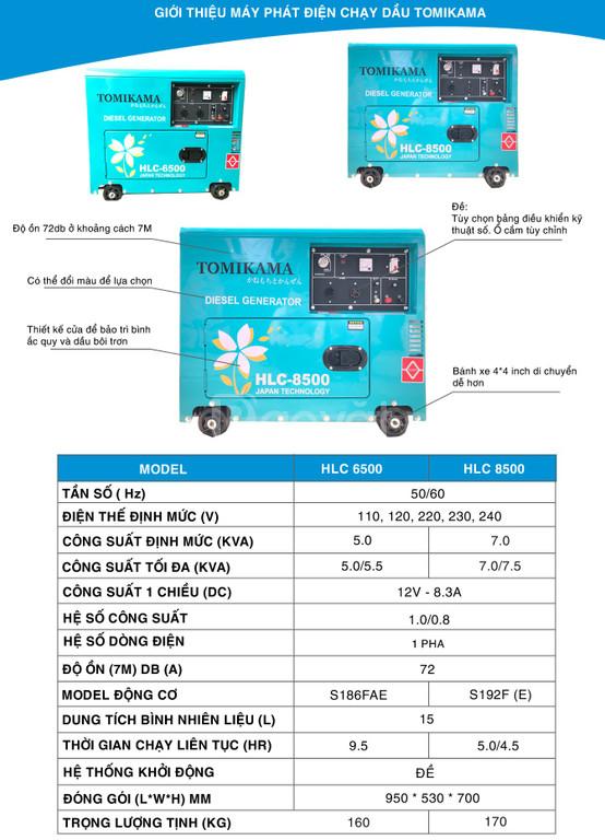 Tại sao mọi người nên sử dụng máy phát điện chạy dầu Tomikama 8500
