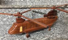 Mô hình máy bay trực thăng gỗ tự nhiên