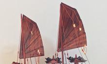 Mô hình thuyền Hạ Long gỗ tự nhiên kích thước nhỏ 40cm