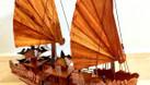 Mô hình thuyền Hạ Long gỗ tự nhiên kích thước nhỏ 40cm (ảnh 6)