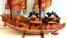 Mô hình thuyền Hạ Long gỗ tự nhiên kích thước nhỏ 40cm (ảnh 5)