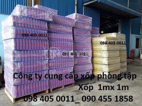 Xốp 1m x 1m ghép sàn màu đen giá rẻ Hà Nội