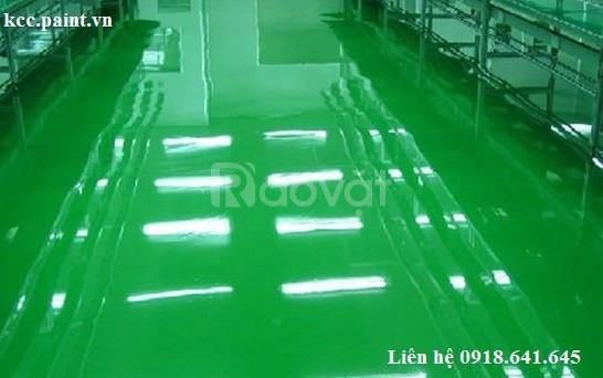 Thi công sơn kháng axit Epoxy kcc Unipoxy Lining tự phẳng màu D80680