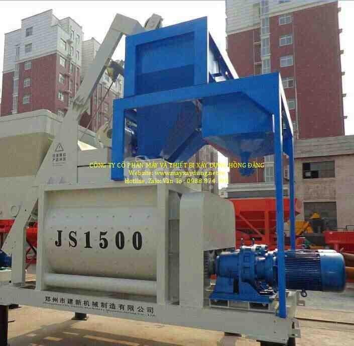 Máy trộn bê tông JS1000 (ảnh 1)