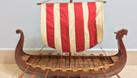 Mô hình thuyền Viking gỗ tự nhiên 80cm (ảnh 1)